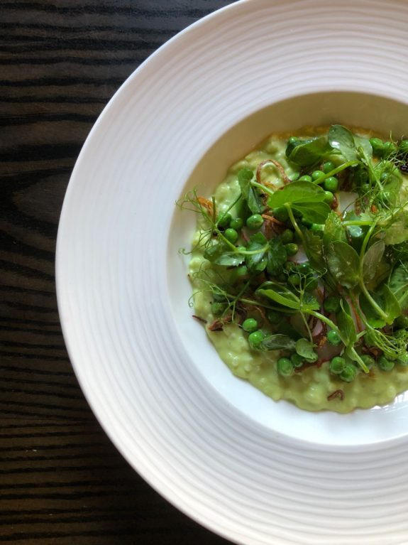 Pea Risotto The Crown at Bray