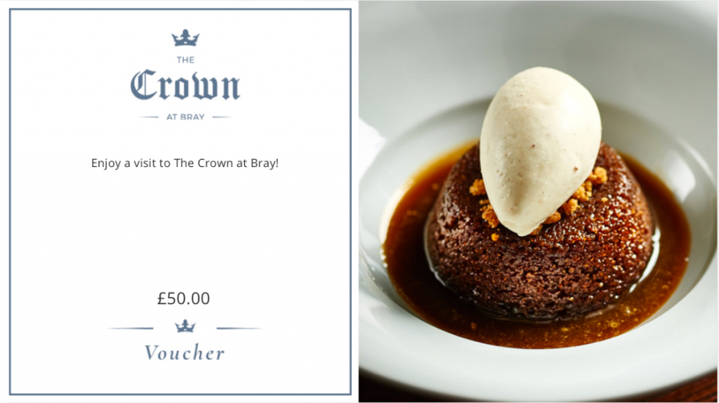 Gift Vouchers at The Crown